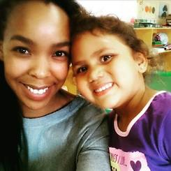 Kelebogile, Au pair from South africa