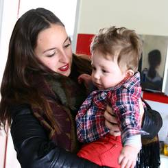 Cassandre, Au pair from France