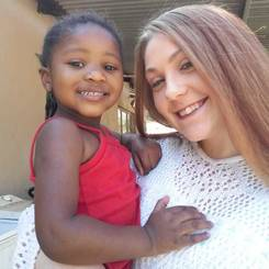 Christean, Au pair from South africa