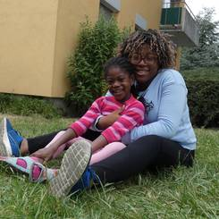 Akossiwa, Au pair from Germany