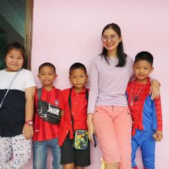 Kamonkan, Au pair from Thailand