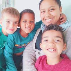 Deniele, Au pair from South africa