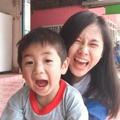Thipjula, Au pair from Thailand