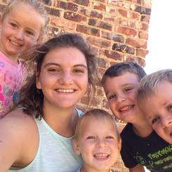 Jarine, Au pair from South africa